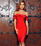 Kise Red Bandage Dress-luxofchic-luxofchic