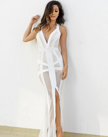 Caris White Maxi Dress-luxofchic-luxofchic