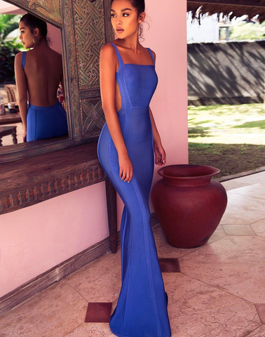 Ophelia Blue Maci Dress