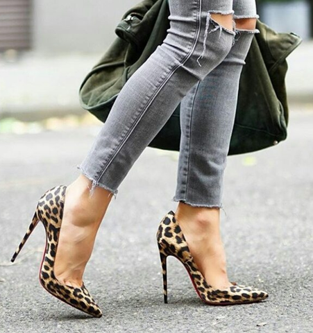 Leah Leather Leopard Pumps-luxofchic-luxofchic