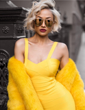 Jeana Yellow Bandage Dress-luxofchic-luxofchic