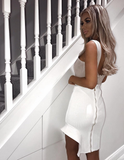 Gloria Nude White Two Piece-luxofchic-luxofchic