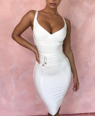 5b4ea04a6fe Ame White Bandage Dress-luxofchic-luxofchic