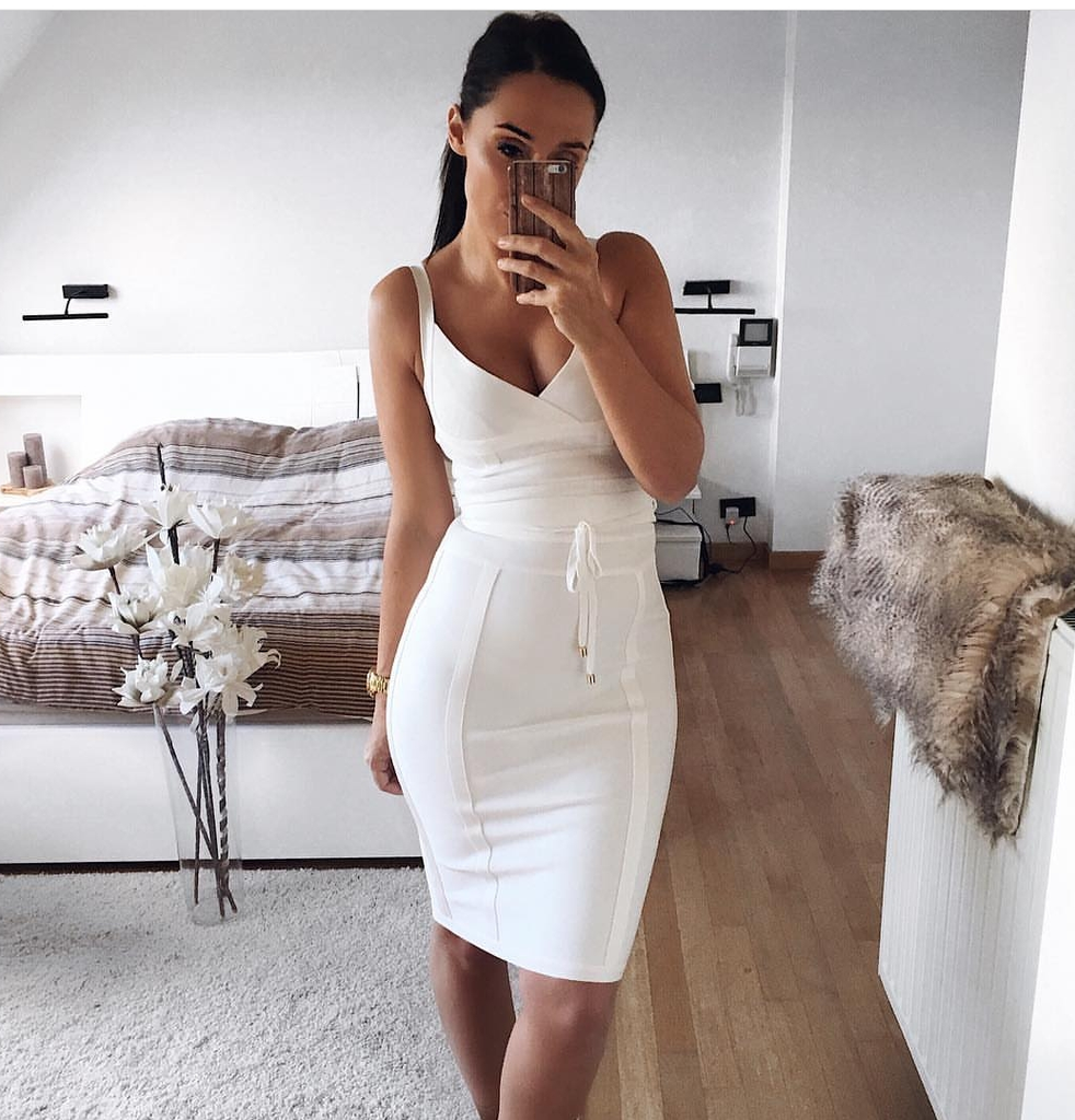 3649a630168 Ame White Bandage Dress – luxofchic