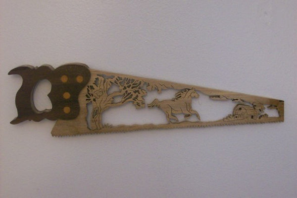 Horse Hand Saw Wall Hanging