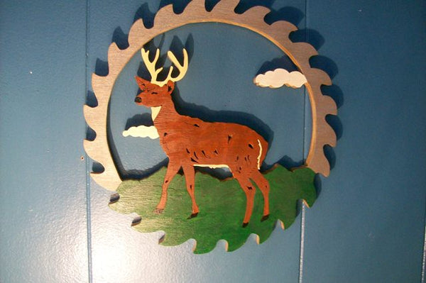 Painted Deer Circular Saw