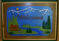 3-D Cabin Welcome Sign