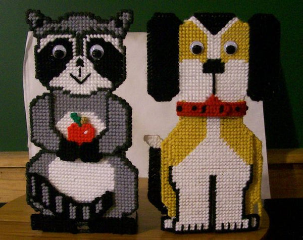 Animal Dish Soap Holders-Dog and Raccoon