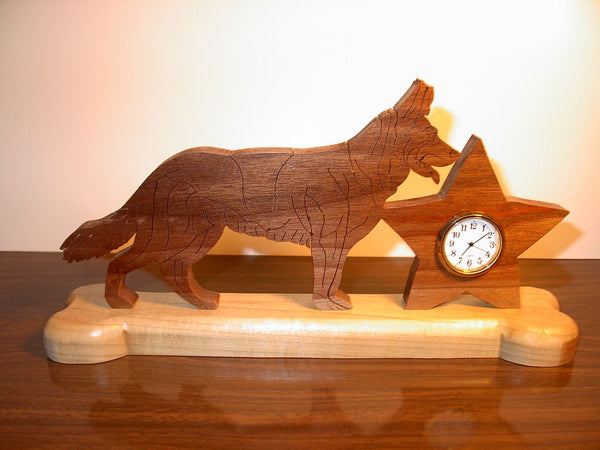German Shepherd Clock or Frame