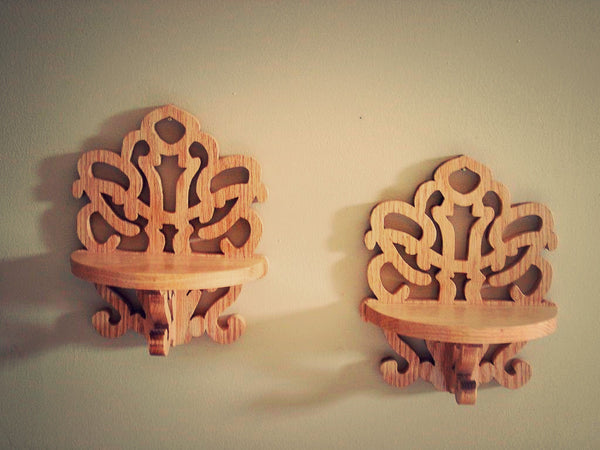 Pair of Deco Shelves