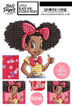 Little Black Girl Sticker Pack - Camille
