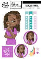 Little Black Girl Sticker Pack - Alexis