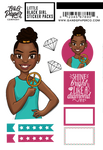 Little Black Girl Sticker Pack - Tiana