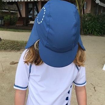 Blue/ white legionnaire's hat
