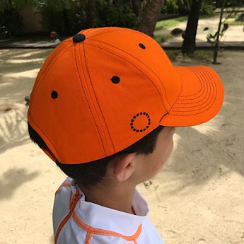 Orange/ blue baseball cap
