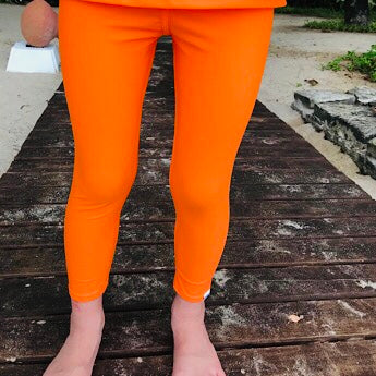Orange swim leggings
