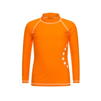 Orange/ white long-sleeved rash top