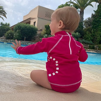 Magenta swim nappy cover