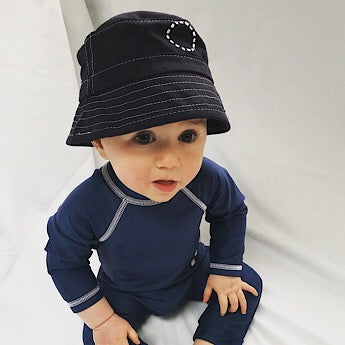 Blue/ white bucket hat - extra-small