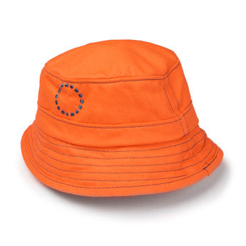 Orange/ blue bucket hat - small