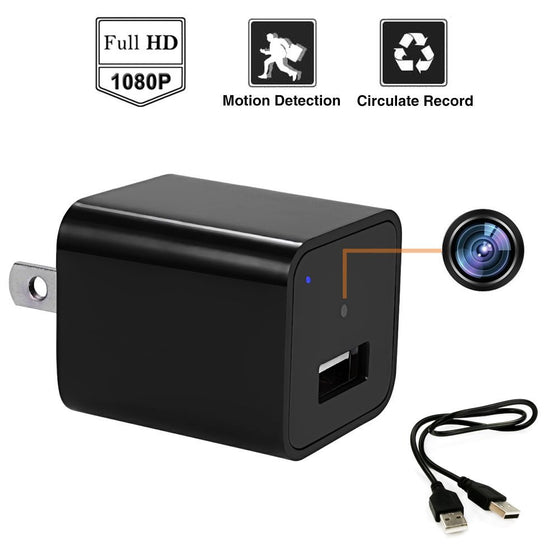 USB Wall Charger Adapter Hidden Spy Camera