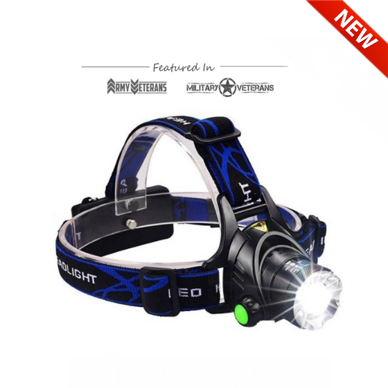 ULTRA Bright Waterproof - TL900 LED Rechargeable Headlamp
