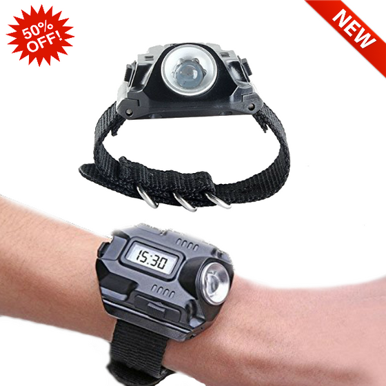 [NEW] Variable Output Tactical Wrist LED Light W/ Integrated Watch