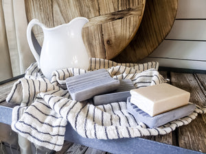 Cement soap dish. Home decor and styling services by At The Farmhouse.
