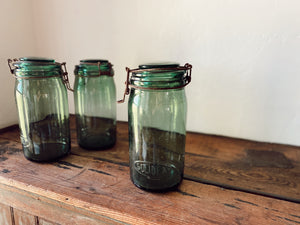 Tall Wide Mouth French Canning Jar