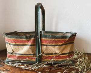 Vintage Collapsable Shopping Basket