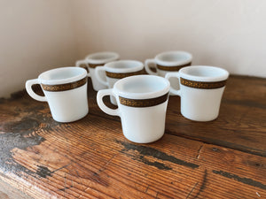 Vintage Pyrex Coffee Cup Set