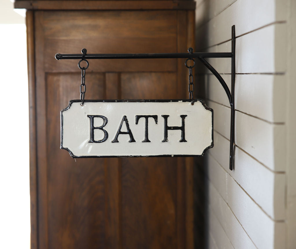 Enamel Bath Sign