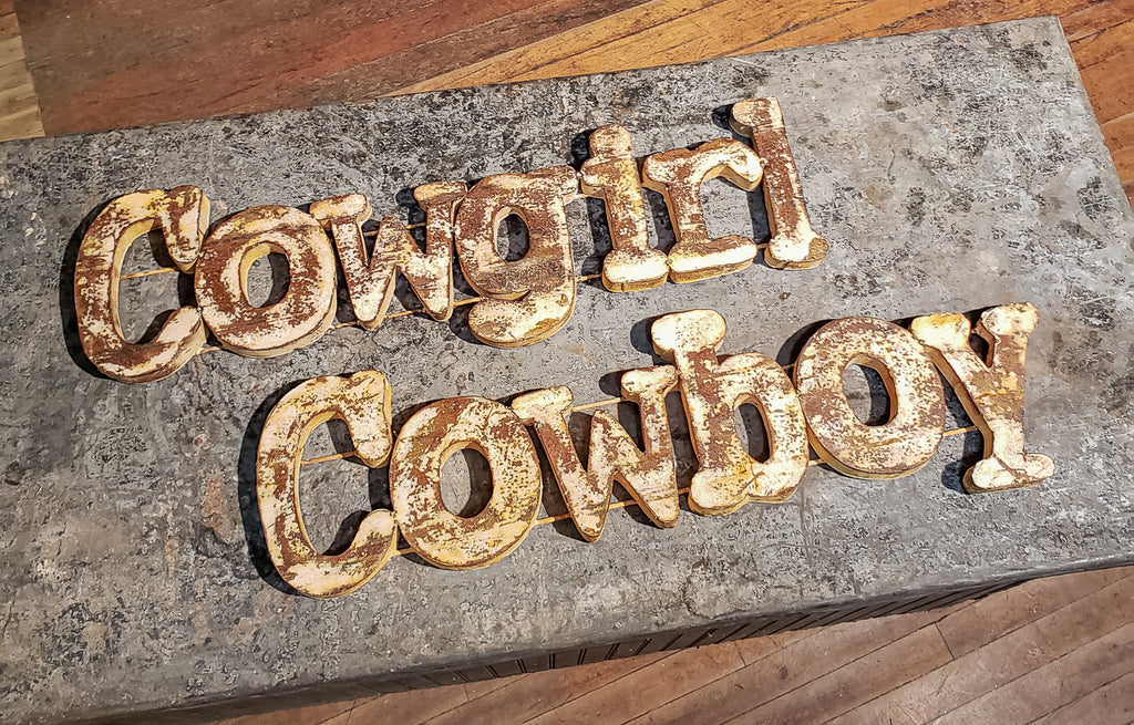 Cowboy/Cowgirl Metal Sign