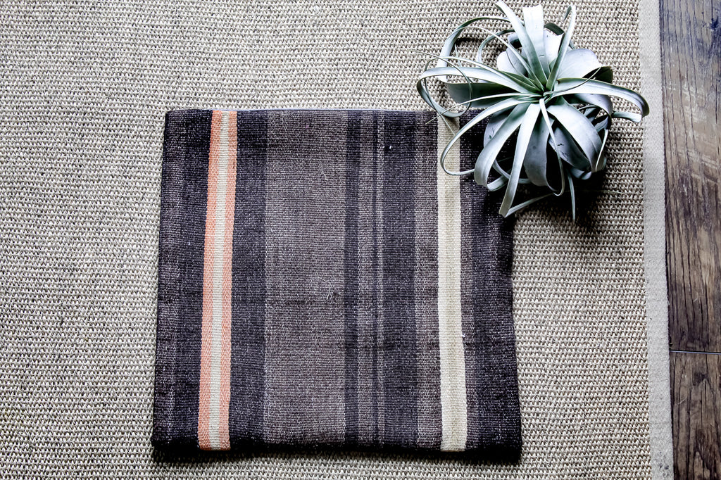 Two-Stripe Turkish Kilim Pillow Cover. Styling and home decor by At the Farmhouse.