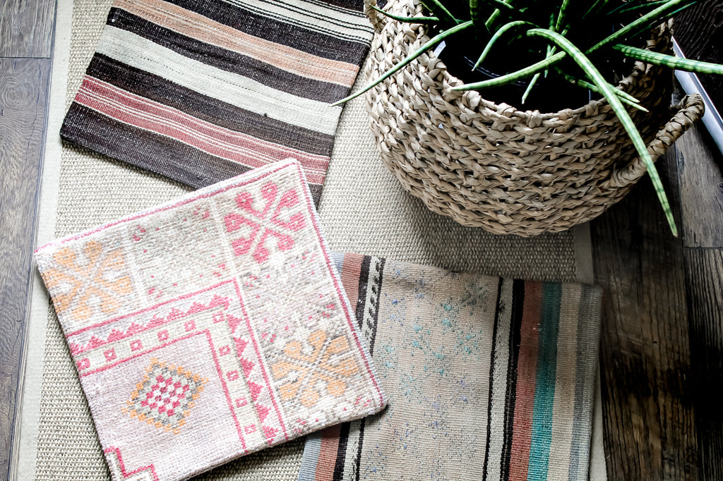 Multi-Pattern Turkish Kilim Pillow Cover. Styling and Home decor by At the Farmhouse.