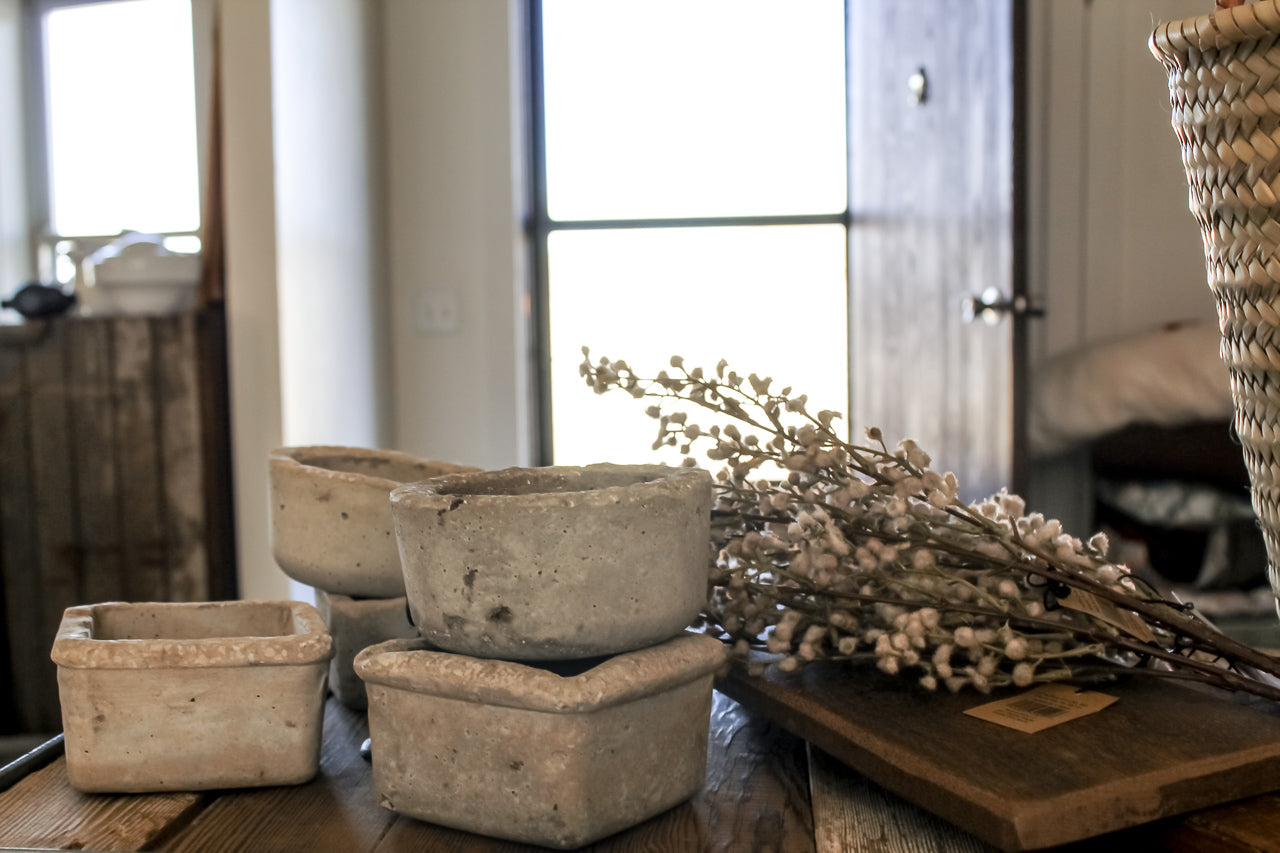 Small Hypertufa Pot. Home styling & decor by At the Farmhouse.