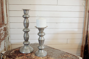 Set of Metal Candleholders