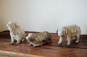 Pig Figurines. Home decor and styling by At the Farmhouse.