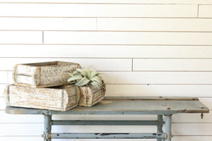 Vintage Brick Mold | Distressed White | At the Farmhouse