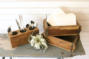 Vintage Brick Mold with Airplant | At the Farmhouse