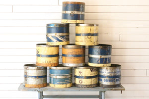 Recycled Vintage Metal Pails | At the Farmhouse
