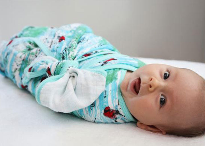 Birch Lullaby Print Swaddle