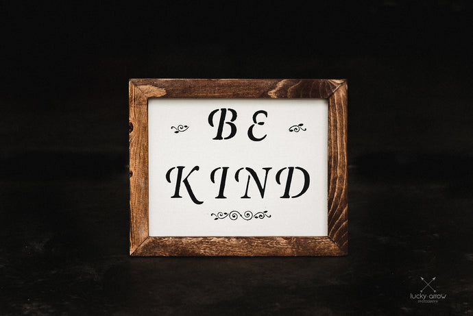 Be Kind - Framed