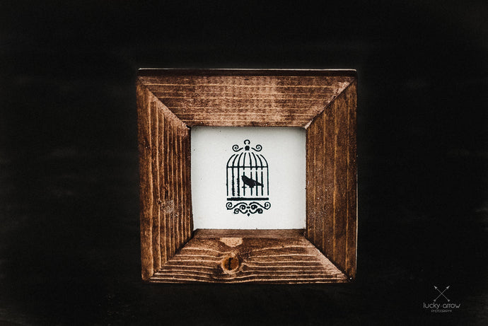 Caged Bird - Framed