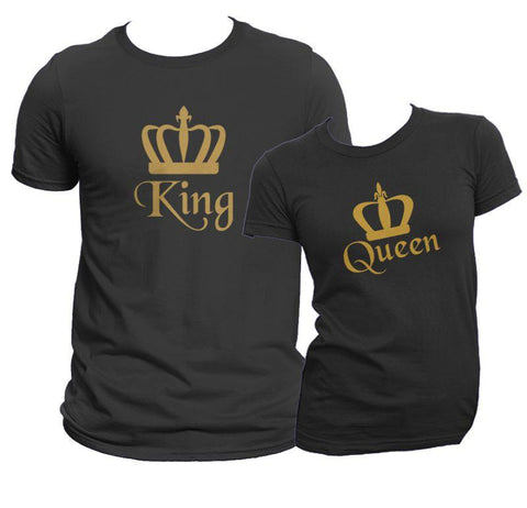 Go-Royal Matching King & Queen Shirt Set COPY - Matching Shirts for Couples and Families