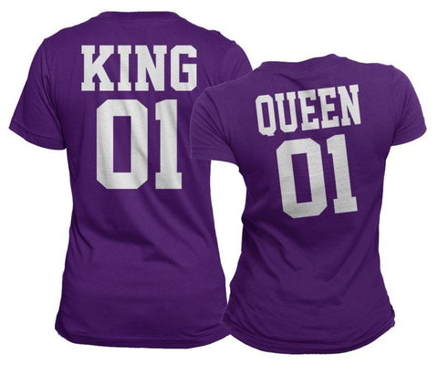 #TeamFamily Matching King & Queen Shirt Set - Matching Shirts for Couples and Families