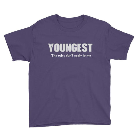 Sibling Hierarchy Youngest Youth Shirt - Matching Shirts for Couples and Families