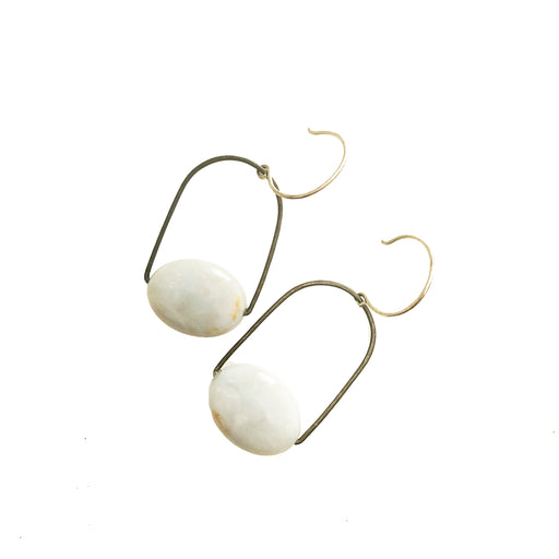 Chalcedony Earrings, Holly Bobisuthi