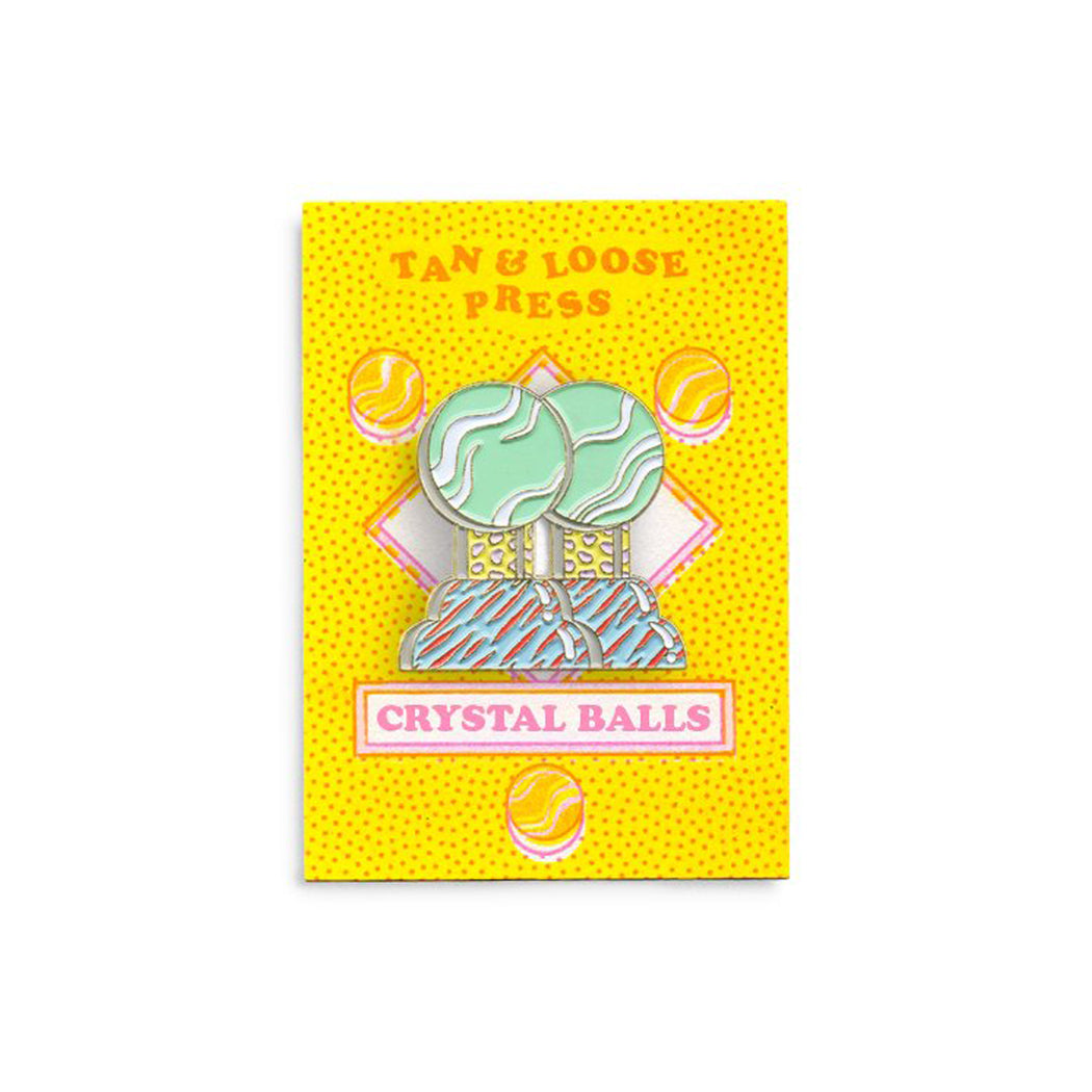 Crystal Balls Pin, Tan & Loose Press
