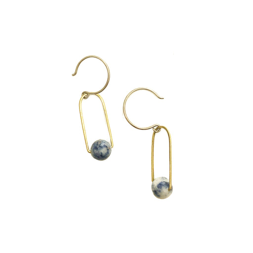 Dumortierite Earrings, Holly Bobisuthi